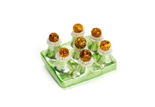 brooch oros winner alatyr amber award kaliningrad silver pearls papiermache gian luca bartellone bodyfurnitures jewellery