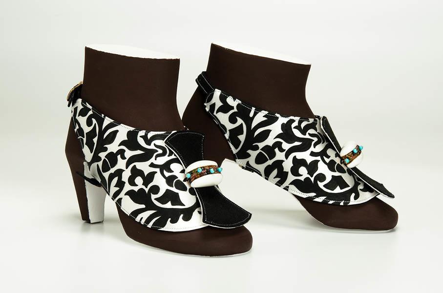 gioiello da scarpa nr 9 seta dipinta gian luca bartellone bodyfurnitures bolzano