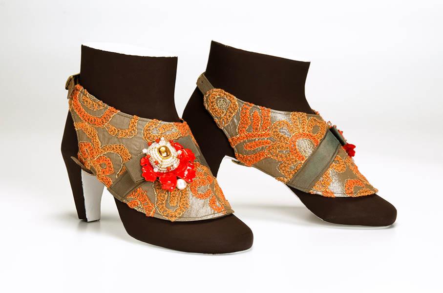 schuhschmuck shoe jewellery nr 10 unikat koralle coral pappmache papermate gian luca bartellone bodyfurnitures