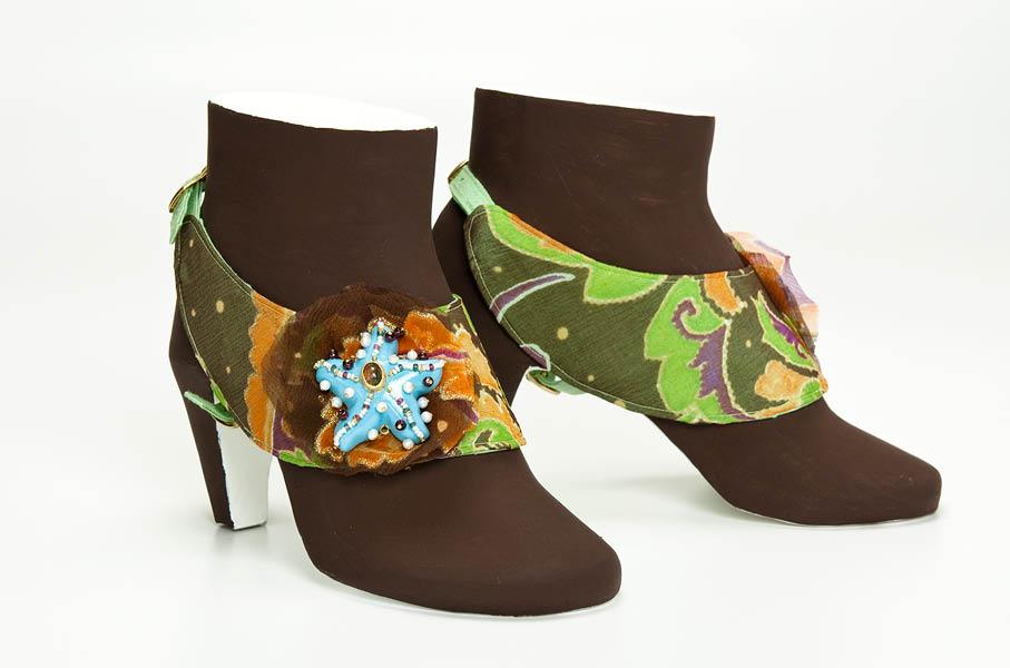 shoe jewellery nr 4 handmade silk ruby papiermache gian luca bartellone bodyfurnitures italy