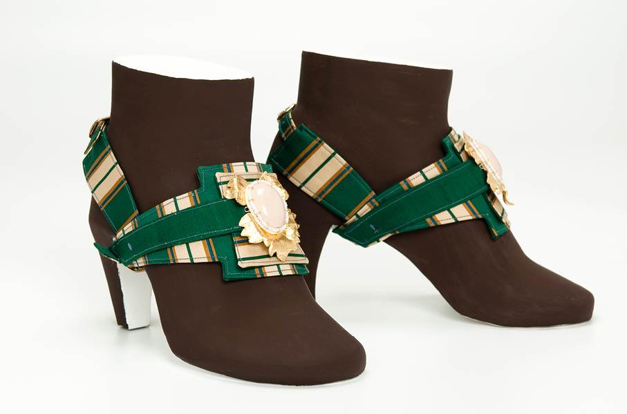 shoe jewellery nr 5 hand made tourmalins papiermache gian luca bartellone bodyfurnitures bolzano